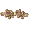 Motif Sequin 20.5x7cm Gold Aurora Borealis with matching Centre Stone
